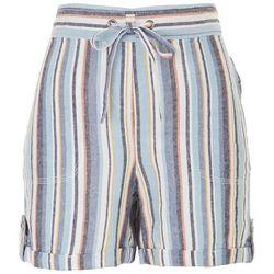 Per Se Womens Paperbag Stripe Printed Shorts