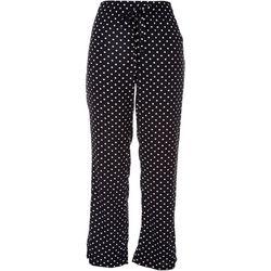 Per Se Womens Polka Dot Loose Pants