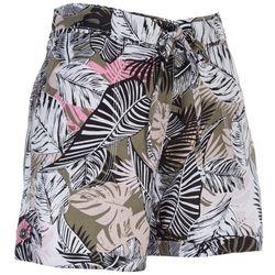 Per Se Womens Paperbag Floral Shorts