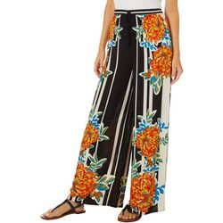 Flying Tomato Womens Graphic Floral Print Pants