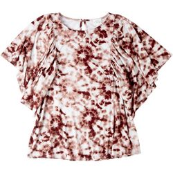 Ava James Womans Tie-Dye Loose Sleeve Top
