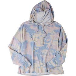 Ava James Womens Tie Dye Soft Hoodie