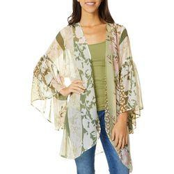 Womens Multi Print Kimono