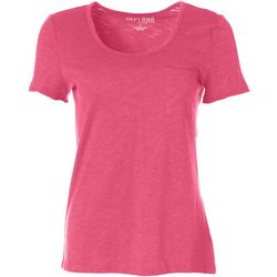 Dept 222 Womens V-Neck Chest Pocket T-Shirt