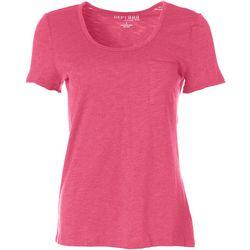 Dept 222 Womens Round Neck Chest Pocket T-Shirt