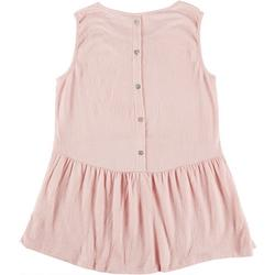 Womens Tank Tip BabyDoll Style Buttons Down The Back