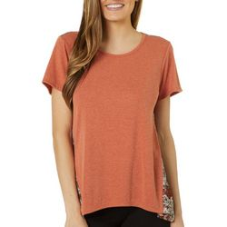Dept 222 Womens Mixed Medallion Print Short Sleeve