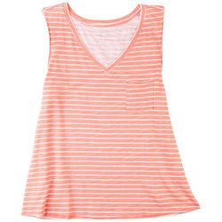 Dept 222 Womans Striped Printed Tank Top
