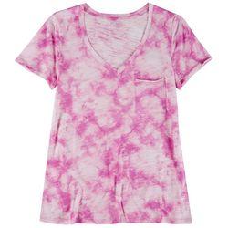 Dept 222 Womens V-Neck Tye Dye T-Shirt