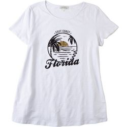 Flora & Sage Womens Florida Sunset T-Shirt