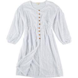Dept 222 Solid Button-Down Dress