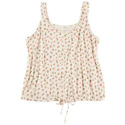 Ava James Womens Floral Printed Sleevless Top