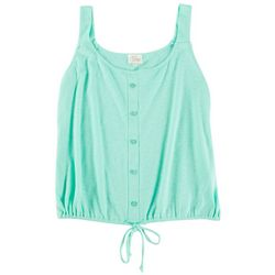 Ava James Womens Solid Sleevless Top With Tie