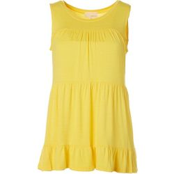 Dept 222 Womens Solid Tier Sleeveless Top