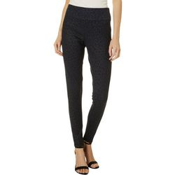 Sound Style Womens Subtle Leopard Print Pull On Pants