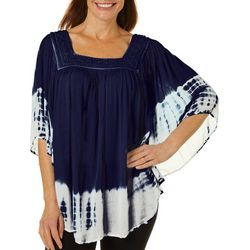 Studio West Womens Crochet Tie Dye Top