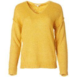 Blu Pepper Womens Solid Long Sleeve Knit Sweater