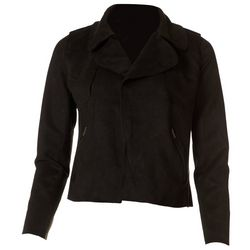E&M by Blu Pepper Womens Faux Suede Moto Jacket