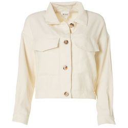 MINE Womens Solid Corduroy Jacket