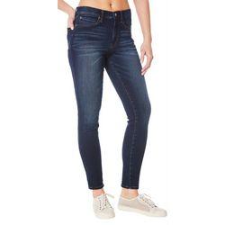 Womens High Rise Knit Denim Jeans