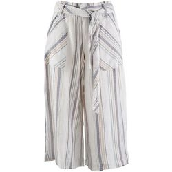 Democracy Womens Stripe Soft Cropped Pants