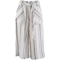 Democracy Womens Stripe Soft Cropped Pants