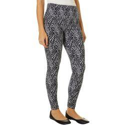 Khakis & Co Womens Zebra Print Capri Leggings