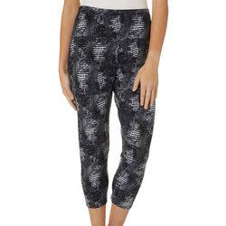 Khakis & Co Women Snakeskin Print Capri Leggings