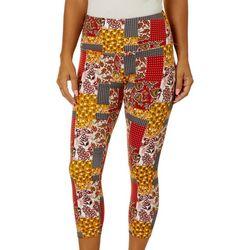 Khakis & Co Womens Paisley Patchwork Print Capri Leggings