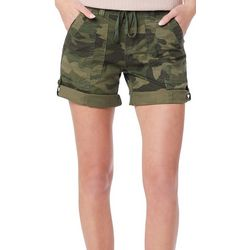 Supplies by Union Bay Womens Marty Camo Roll Cuff Shorts