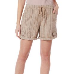 Supplies By Union Bay Womens Striped Pull On Shorts