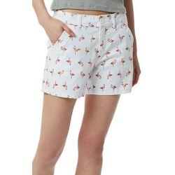 Juniors Calvin Pink Flamingo Shorts