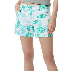 Juniors Calvin Tropical Leaf Shorts