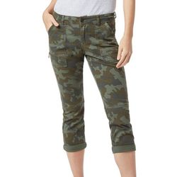 Supplies by Unionbay Juniors Norma Camoflauge Capris