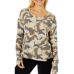 CG Sport Womens Camo Print Long Sleeve Top