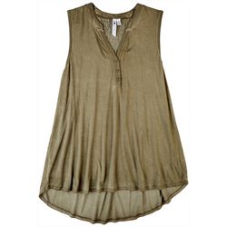 Cable & Gauge Womens Solid Tank Top With A Tunic Top