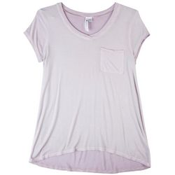 Cable & Gauge Womens Solid V Neck Top
