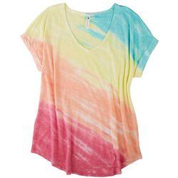 CG Womens Tye Dye Short Sleeve Top