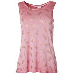 CG Sport Womens Pineapple Metallic Sleeveless Top