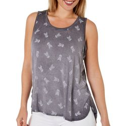 Cable & Gauge Womens Skull Sleeveless Top