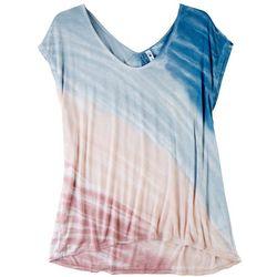 CG Sport Womens Tye Dye Deep U Neck Top