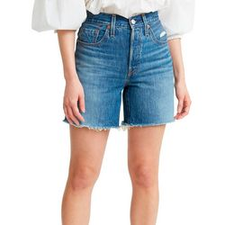 Levi's Womens 501 High Rise Mid Shorts
