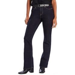 Womens 505 Classic Boot Cut Denim Jeans