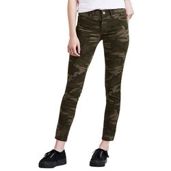 Levi's Womens 711 Camo Print Skinny Leg Ankle Jeans