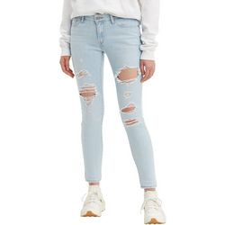 Levi's Womens 711 Skinny Distressed Jeans
