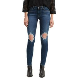 Levi's Womens 711 Skinny Destructed Jeans