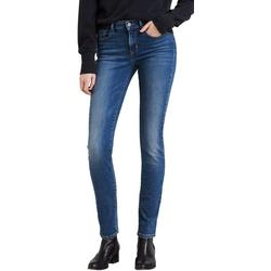 Womens Mid Rise Skinny Denim Jeans