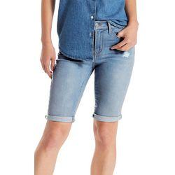 Levi's Womens Distressed Roll Cuff Bermuda Shorts