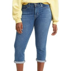Levi's Womens Classic Rolled Hem Denim Capris