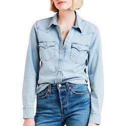 Levi's Womens Ultimate Western Denim Long Sleeve Top